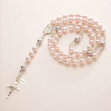 Personalised Rosary with Swarovski Elements Pearls